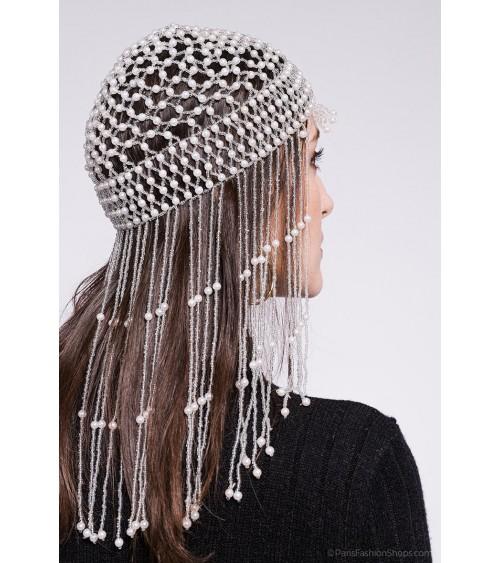Chaine de tête en perles -...