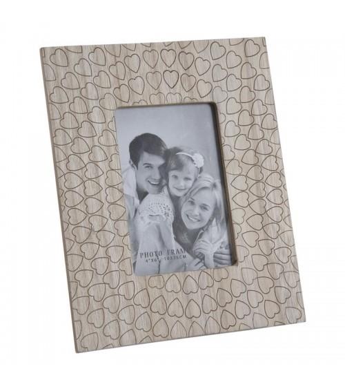Cadre photo en bois motif...