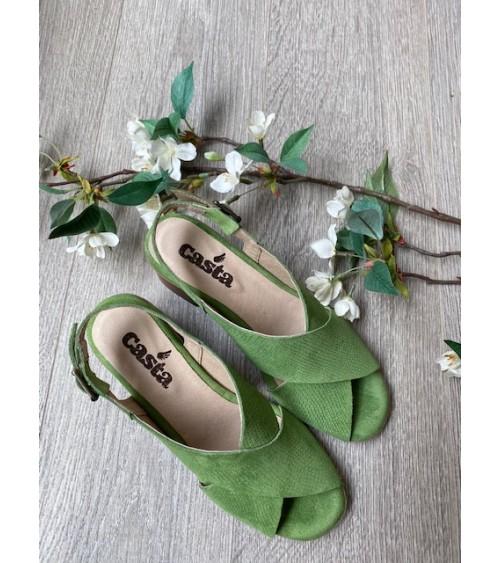 Sandale talon verte